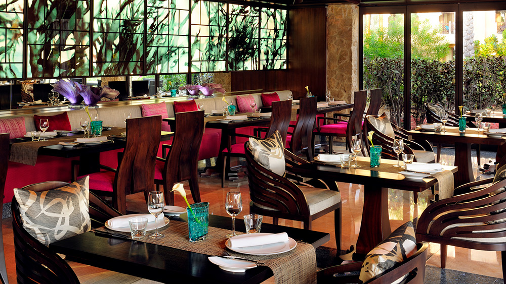 Indoor seating at Eauzone at One&Only Royal Mirage The Palace
