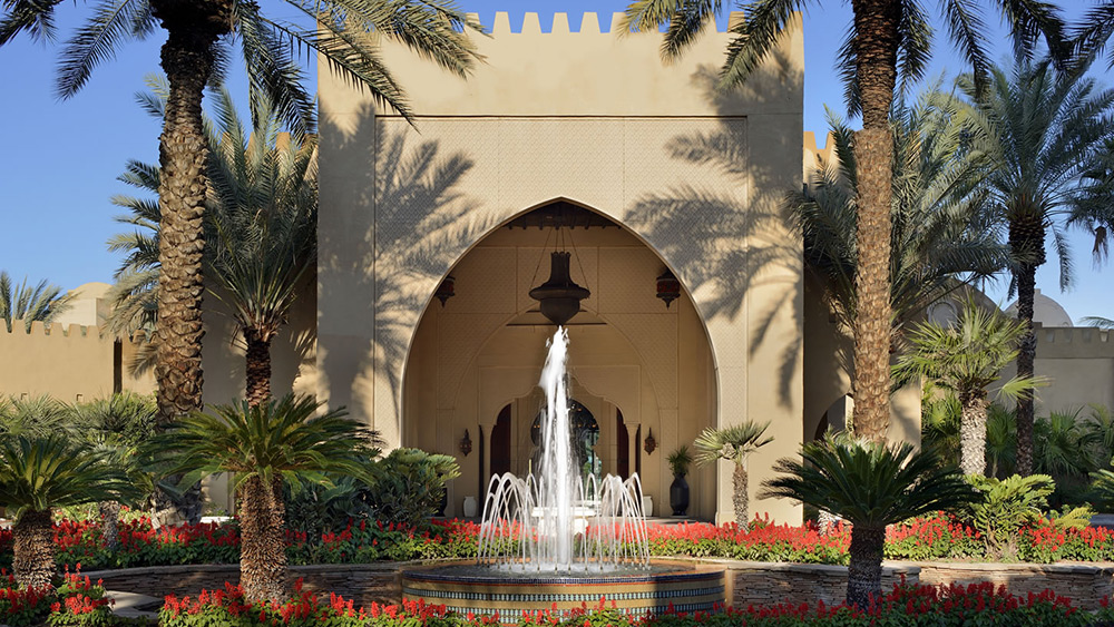 Entrance fountain at Arabian Court at One&Only Royal Mirage