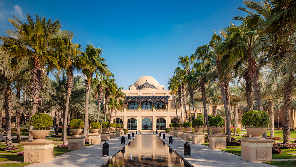 The esplanade at Arabian Court at One&Only Royal Mirage