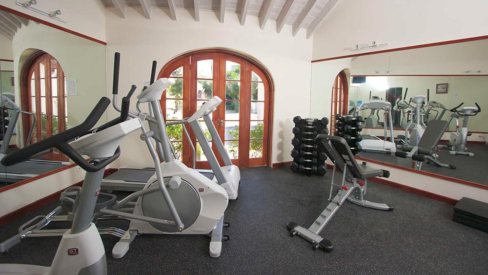 Fitness equipment at Mango Bay