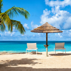 Sun Loungers on the beach at Galley Bay Resort & Spa Antigua