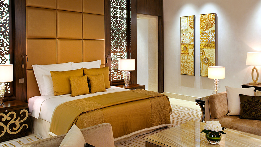 Bedroom of the Grand Palm Suite Manor House at One&Only The Palm