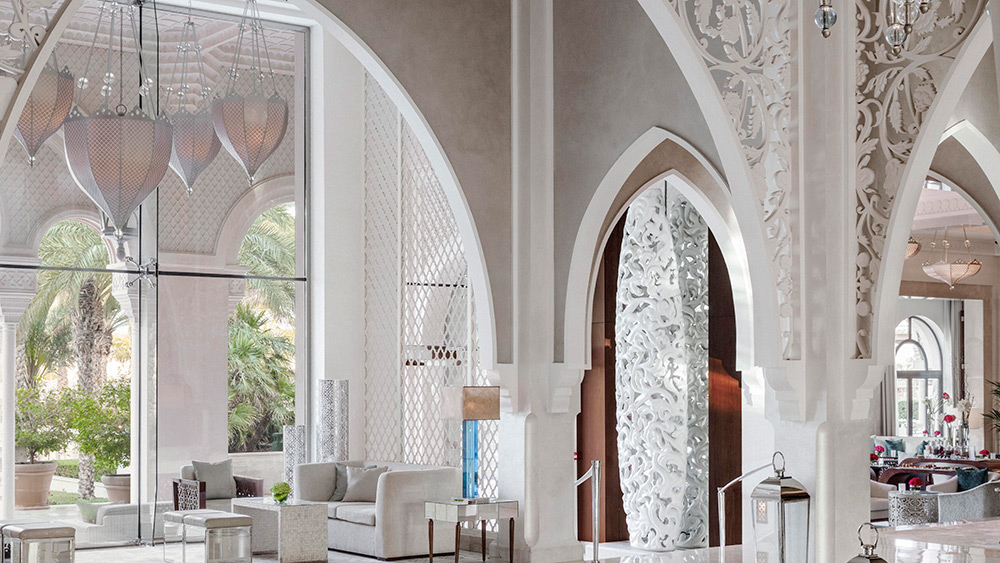 The lobby of Manor House at One&Only The Palm