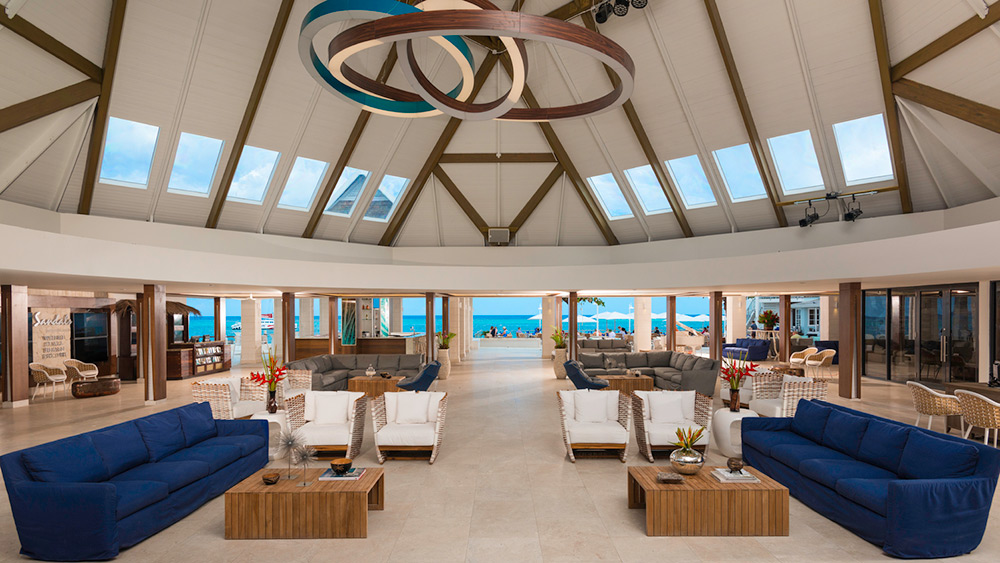 New open air lobby at Sandals Montego Bay