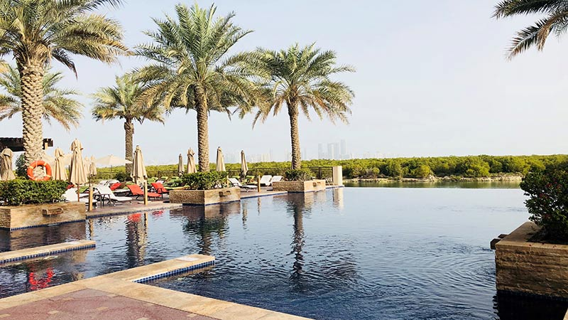 Swimming Pool at the Anantara Eastern Mangroves Resort, Abu Dhabi