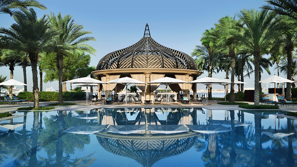 Pool and bar at One&Only Royal Mirage The Palace