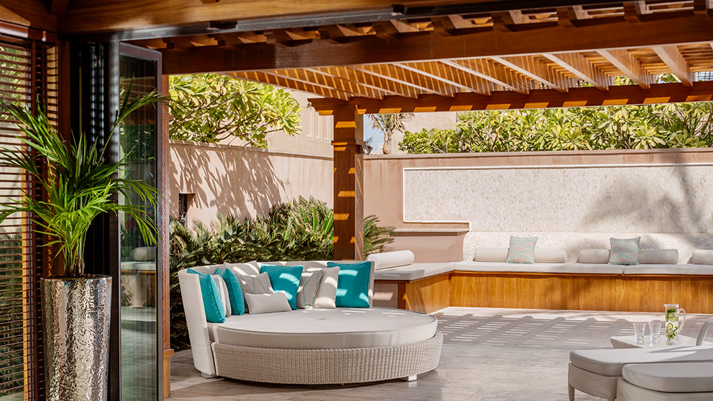 Air-conditioned pool cabana at Manor House at One&Only The Palm