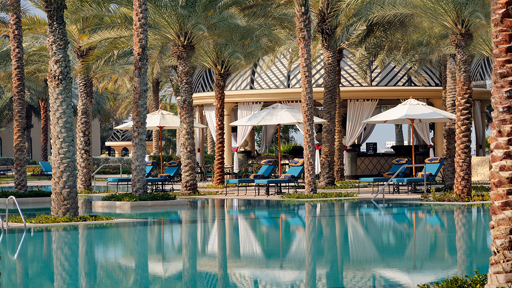 Pool cabanas at One&Only Royal Mirage The Palace