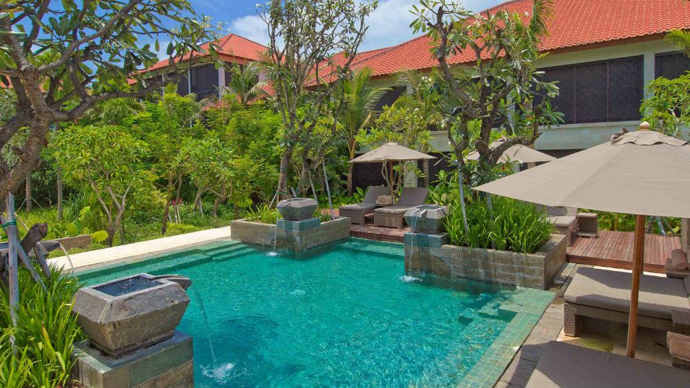 Pool area at Fairmont Sanur Beach Bali