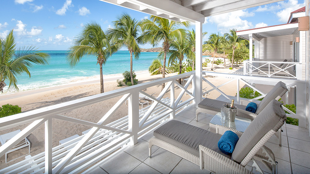 Balcony of the Premium Beachfront Suites at Galley Bay Resort & Spa