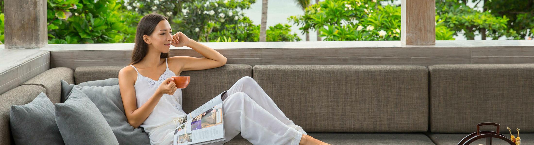 Relaxing at Fairmont Sanur Beach Bali