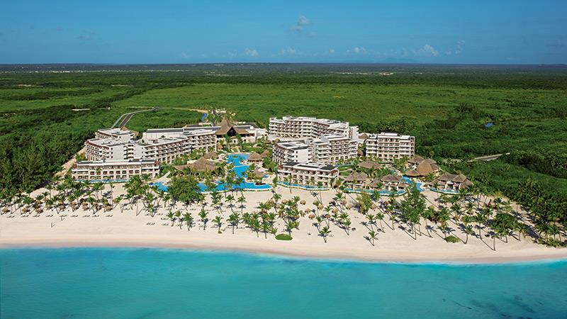 Aerial view of Secrets Cap Cana in Dominican Republic