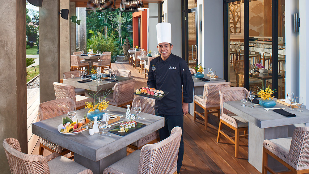 Sushi chef at Soy Restaurant at Sandals Montego Bay