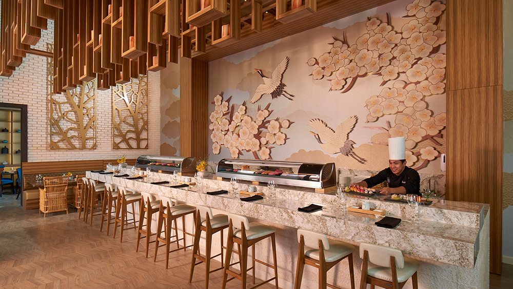 Sushi bar at Soy Restaurant at Sandals Montego Bay