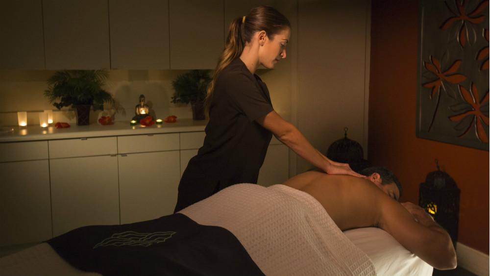 Spa Mandara massage at the Loews Portofino Bay Hotel at Universal