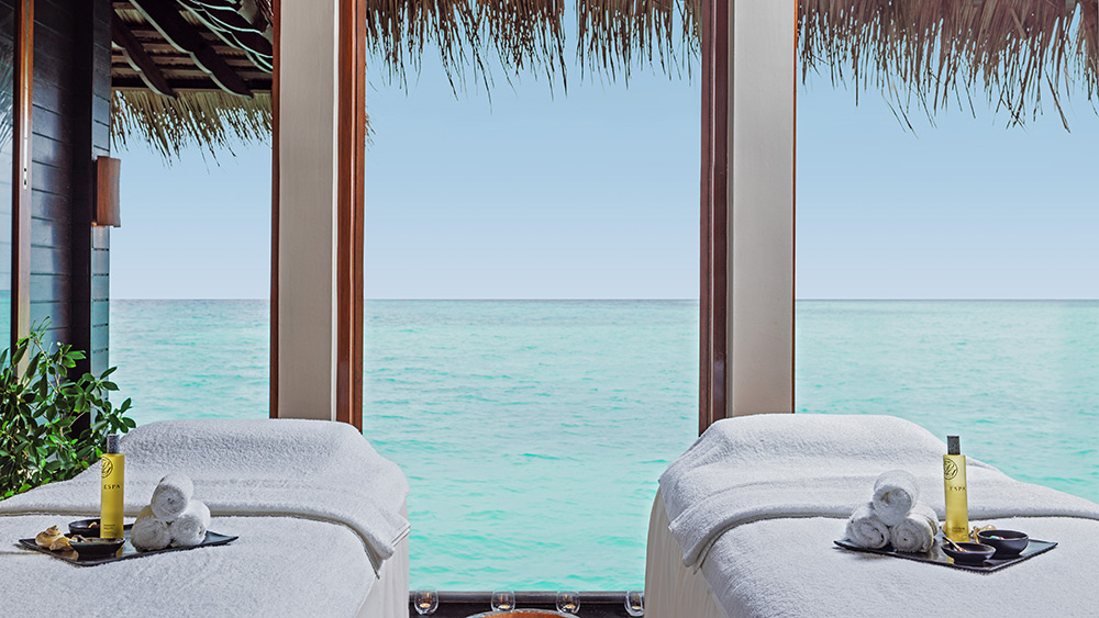Treatment room at the spa at One&Only Reethi Rah