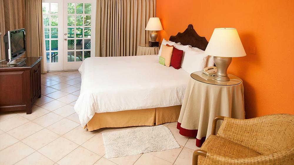 Bedroom of the Standard Room at Mango Bay
