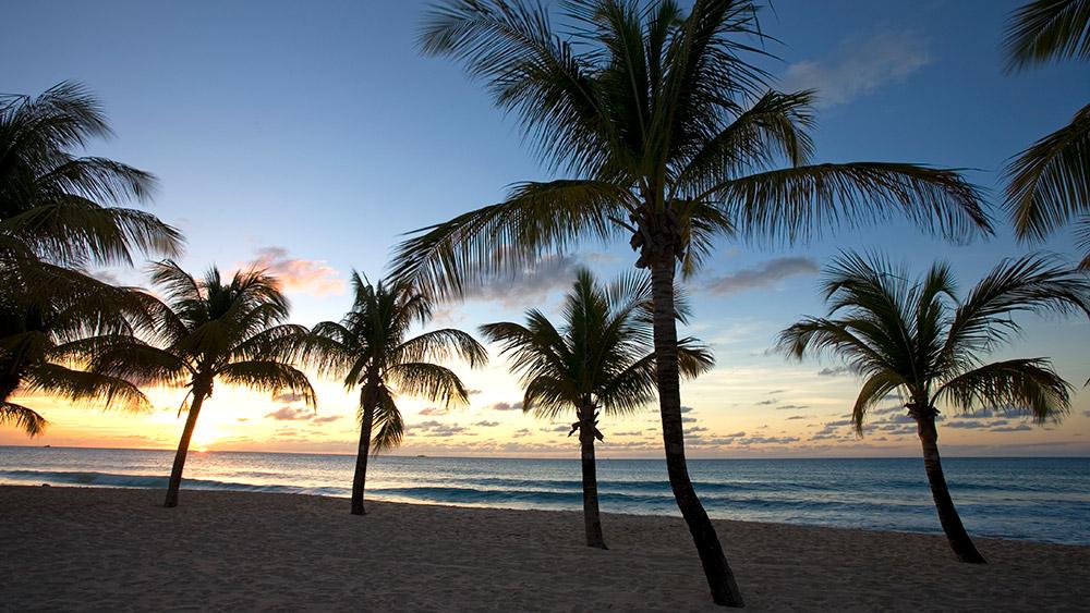 Beach sunset at Galley Bay Resort & Spa