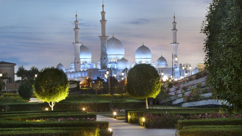 View of Mosque Ritz Cartlon Abu Dhabi