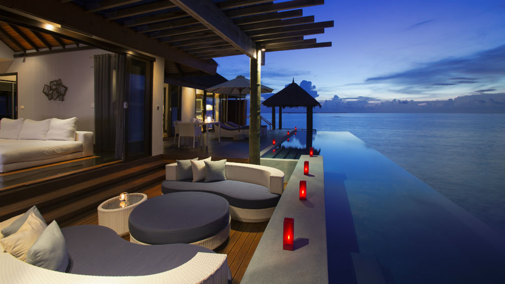 Water Suite deck Velassaru Maldives