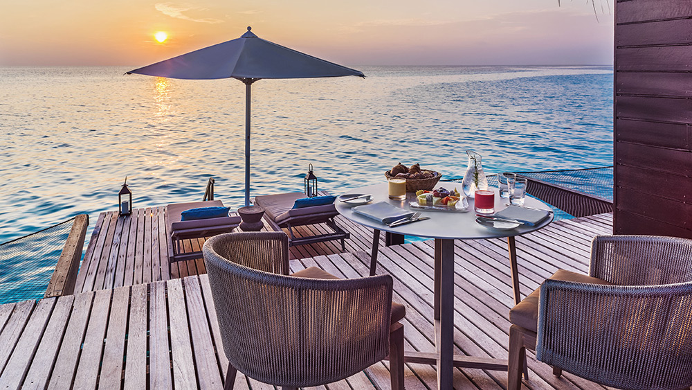 Deck of the Water Villa at One&Only Reethi Rah