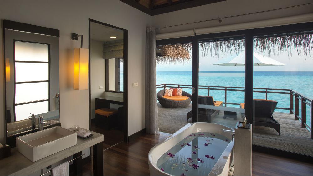Water Villa bathroom Velassaru Maldives