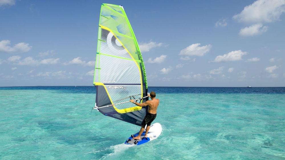 Wind surfing at the Velassaru Maldives