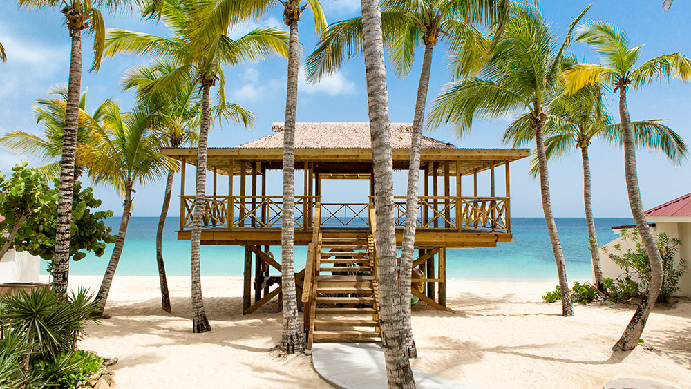 Open air pavilion at Galley Bay Resort & Spa