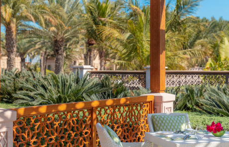 Dining terrace at Manor House at One&Only The Palm