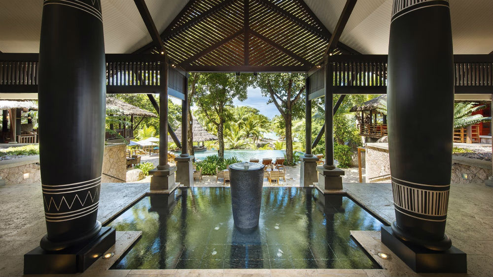 Lobby area at the Constance Lemuria Seychelles