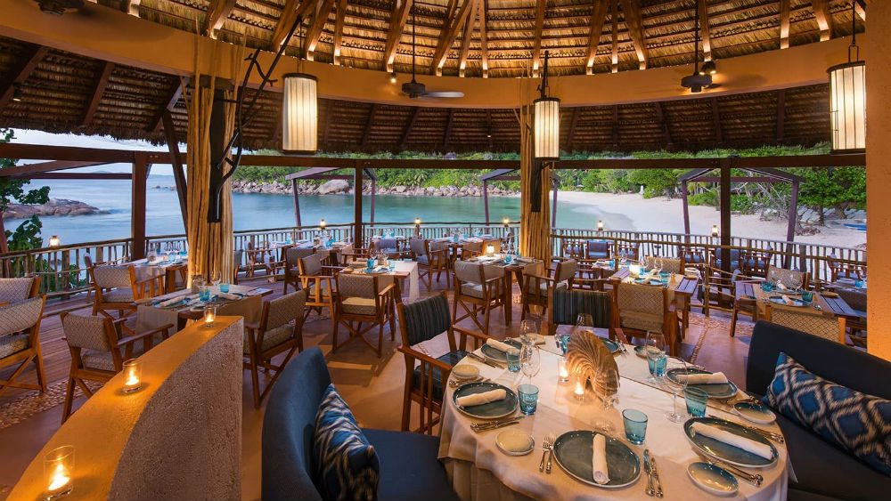 the nest restaurant and bar indoor Constance Lemuria Seychelles