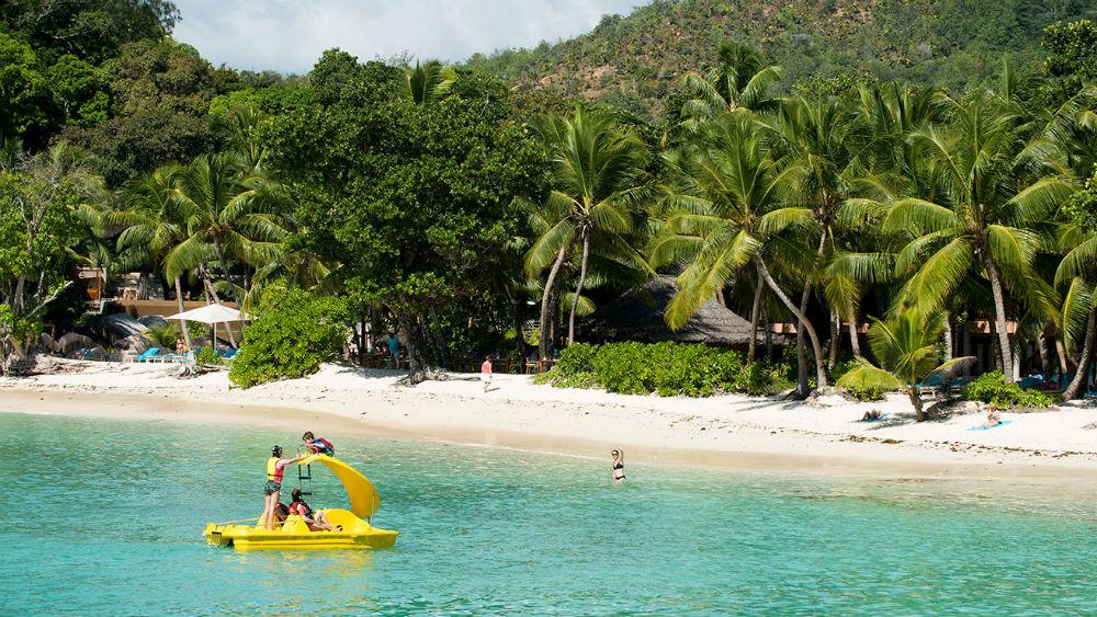 Water sports at the Lemuria beach Constance Lemuria Seychelles