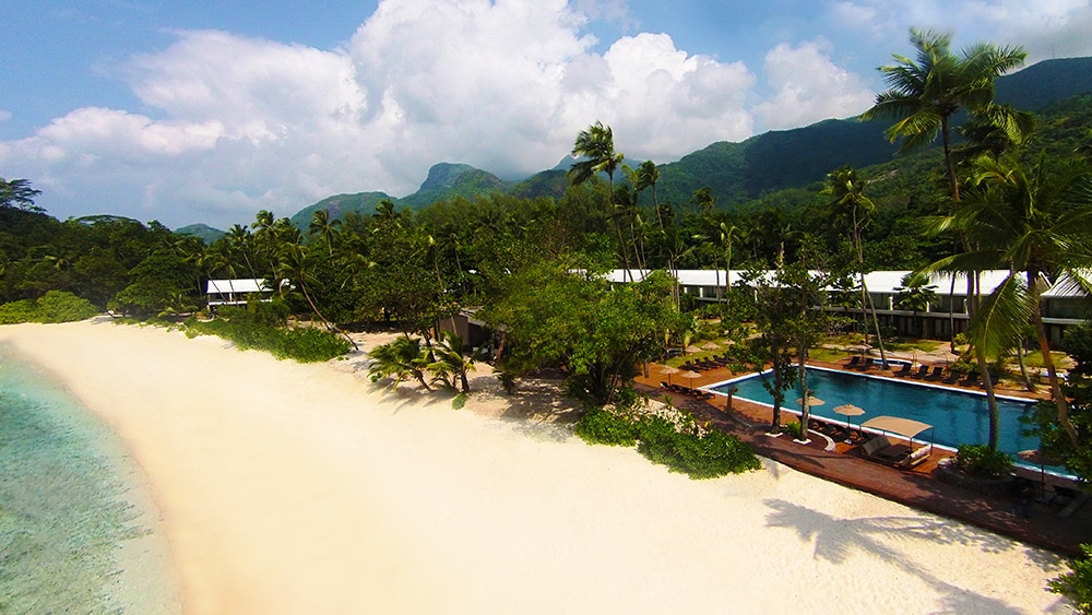 Aerial view of the beach at AVANI Barbarons Seychelles