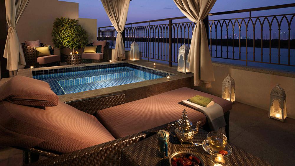 Plunge pool on the balcony of the Anantara Mangroves Pool Suite at Anantara Eastern Mangroves