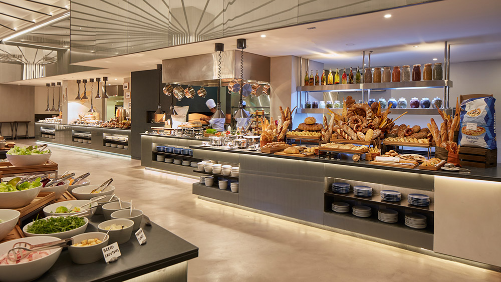 Buffet at Bacchanal Restaurant at Caesars Resort Bluewaters