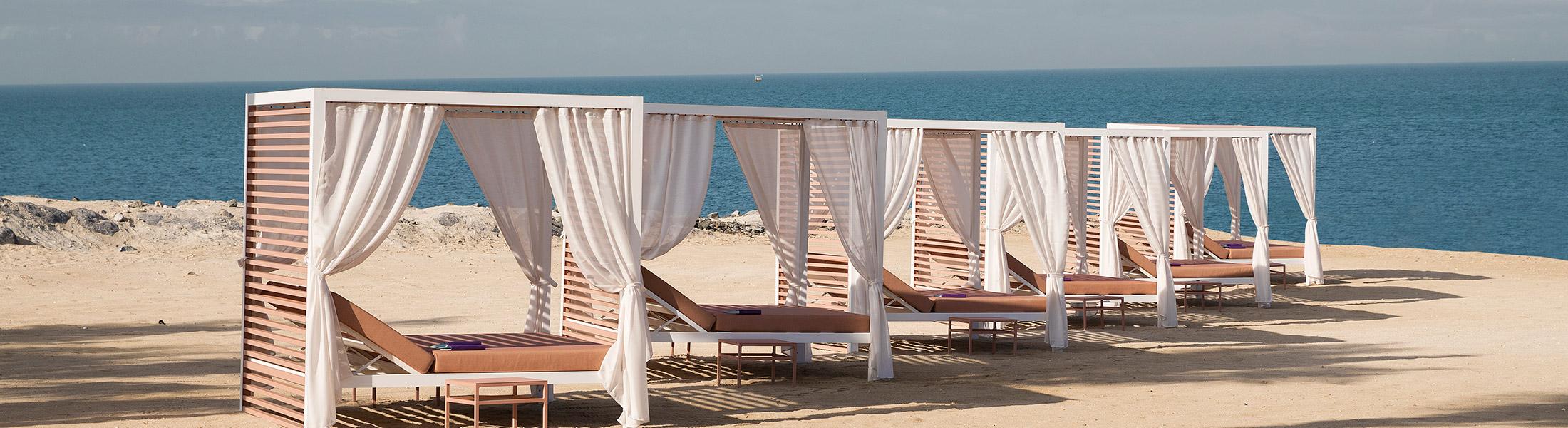 Beach cabanas at Caesars Palace Bluewaters