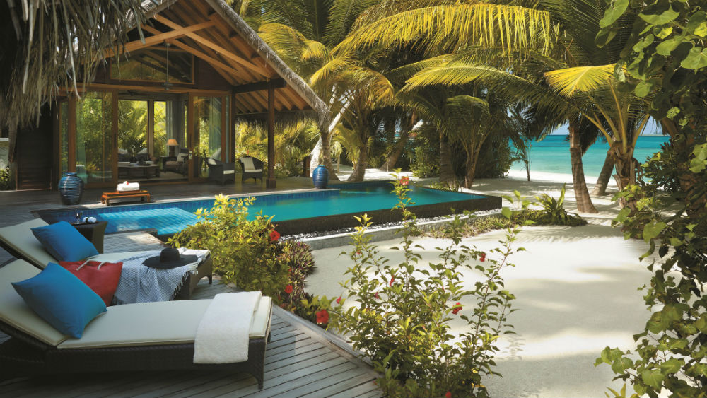 Beach Villa - private pool and beach Shangri La Villingili Maldives