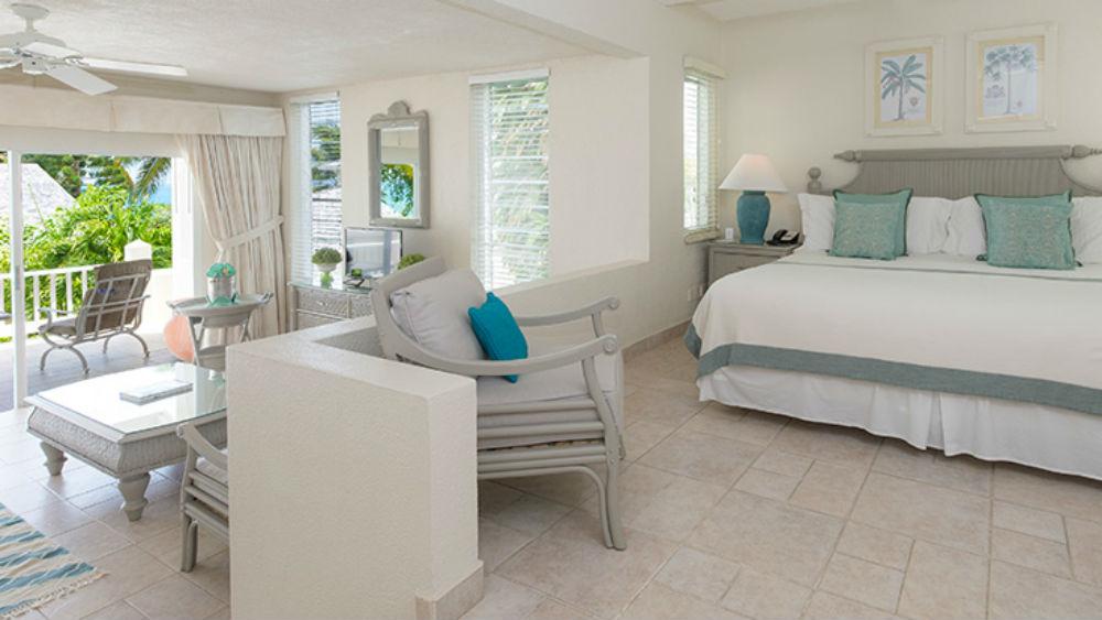 Bedroom of the Hillside Junior Suite at Blue Waters Resort