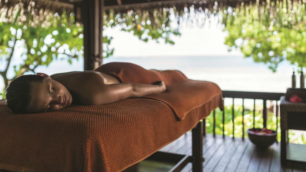 CHI the Spa outdoor treatment Shangri La Villingili Maldives