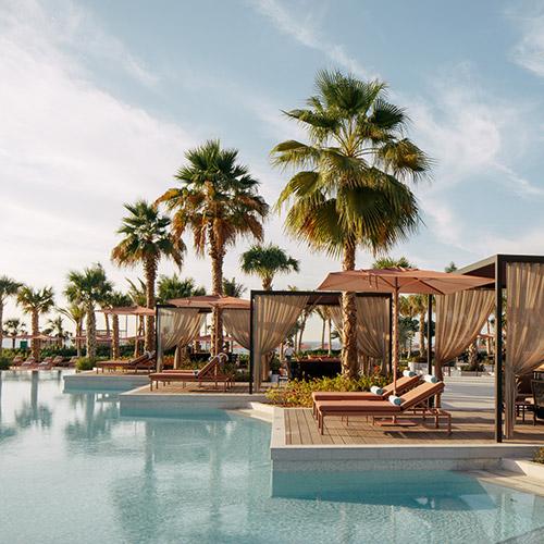 Pool Cabanas at Caesars Palace Bluewaters Dubai
