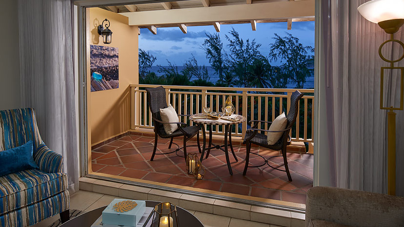 Balcony of the Caribbean Oceanview Penthouse at Sandals Grande St Lucian
