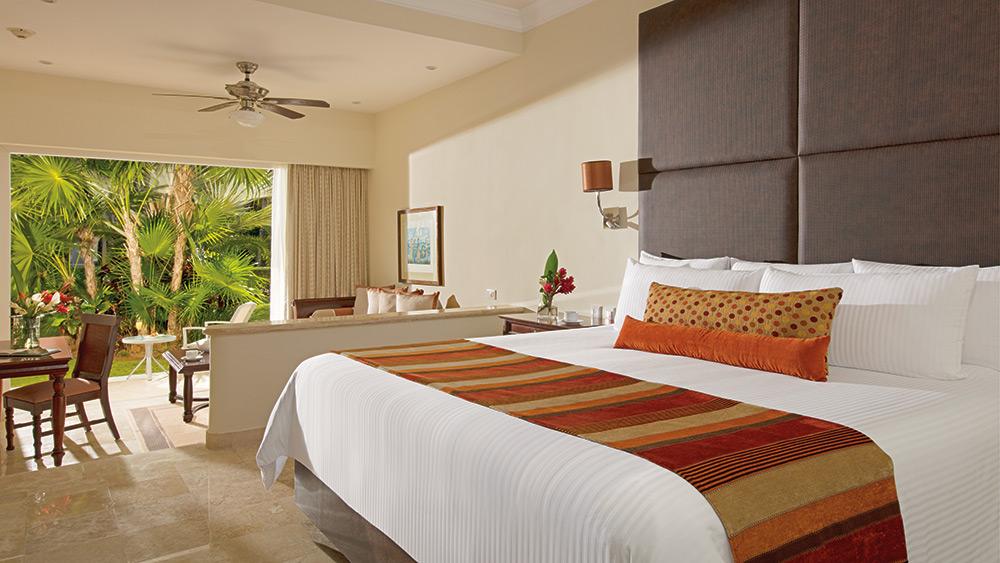 Bedroom with garden view at Dreams Tulum Resort & Spa