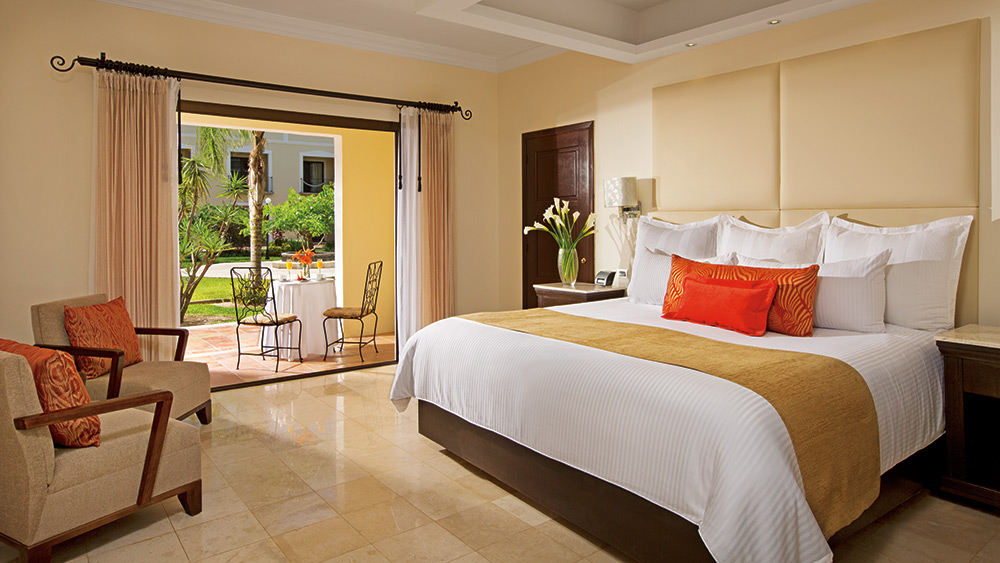 Bedroom with terrace at Dreams Tulum Resort & Spa
