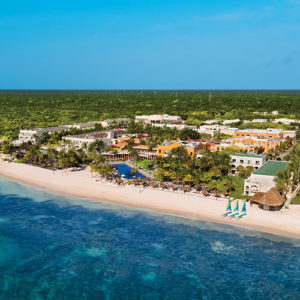 Aerial view of Dreams Tulum Resort & Spa