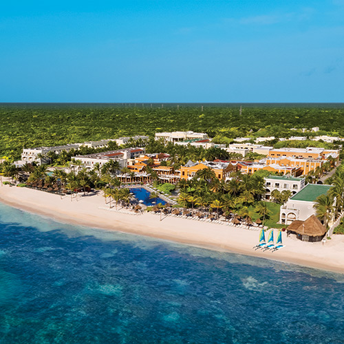 Aerial view of Dreams Tulum Resort & Spa