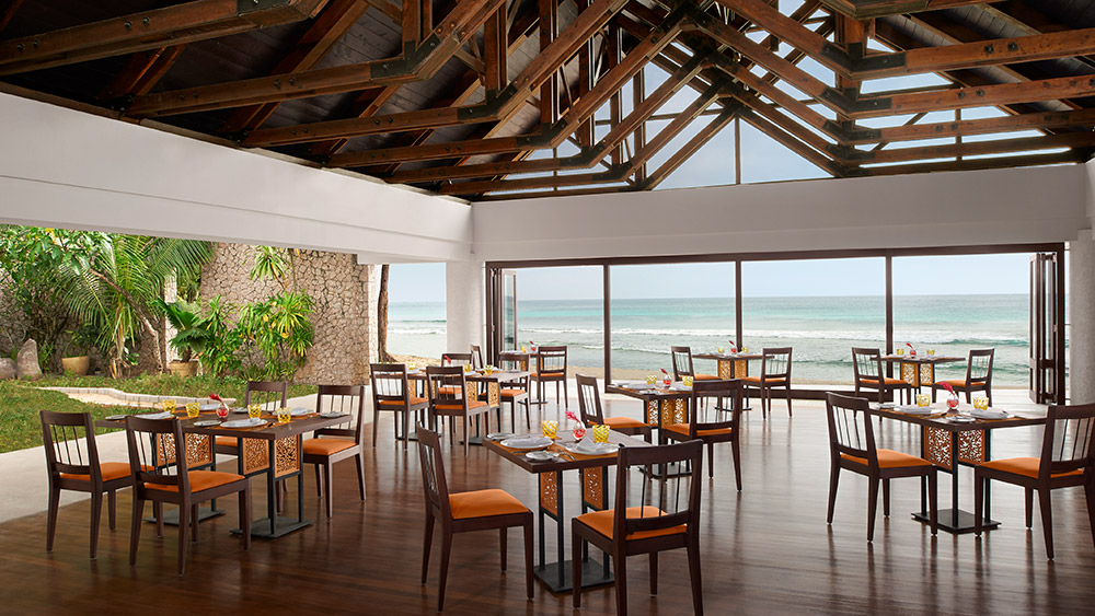 Indoor dining at Elements Restaurant at AVANI Barbarons Seychelles
