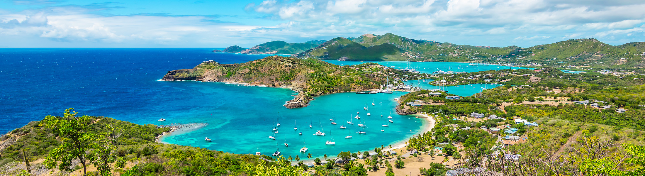 Aerial view of English Harbour in Antigua