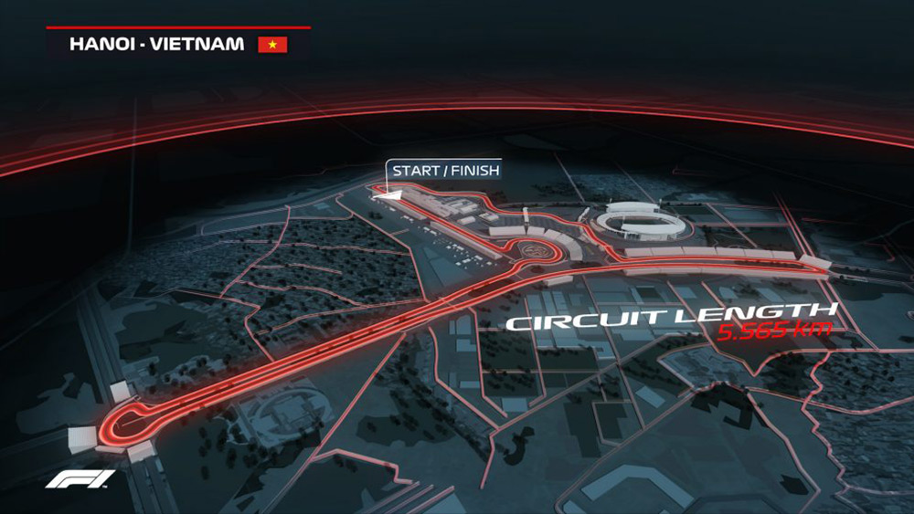 Circuit length of the Vietnam Formula 1 Grand Prix