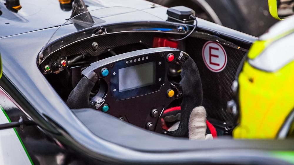 F1 cockpit at the Spanish F1 Grand Prix