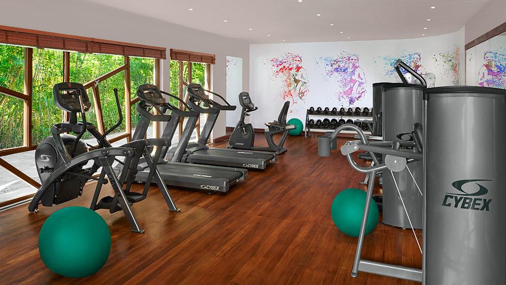 Fitness equipment at AVANI Barbarons Seychelles
